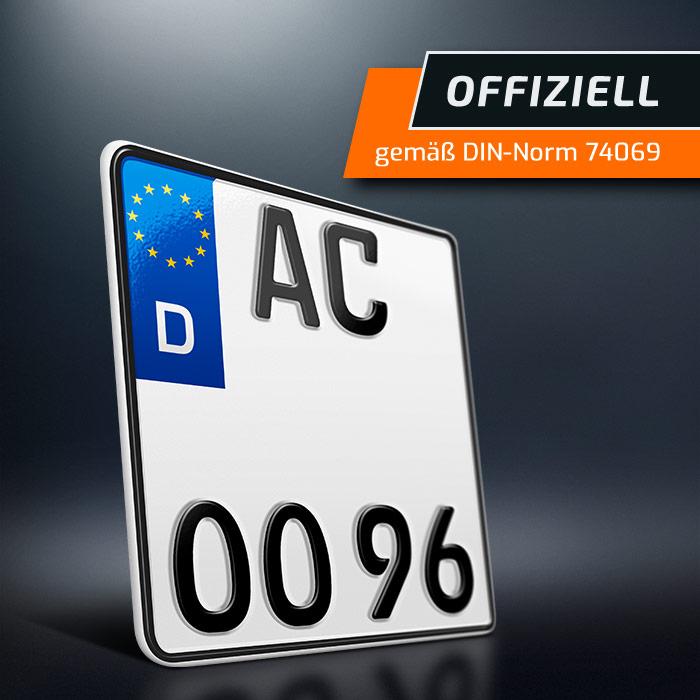 1 Motorrad Kennzeichen 180 X 200 Mm Motorradkennzeichen Saison
